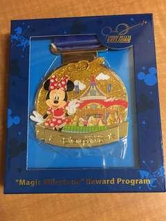 迪士尼「獎賞行」計劃獨家獎牌 Minnie米妮 Magic Milestone Reward Programme Magic Access Exclusive 香港迪士尼樂園