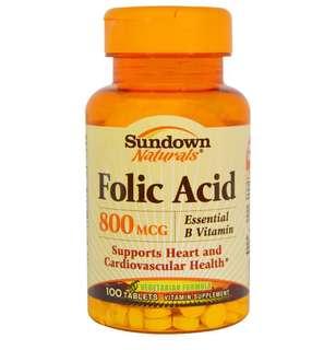 美國 Sundown 葉酸 Folic Acid 800mcg