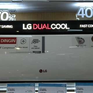 LG AC Split 1/2 PK Inverter DP 0% Cukup Admin 199.000 Tanpa CC