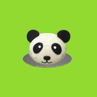 Panda Dome Piñata Cake