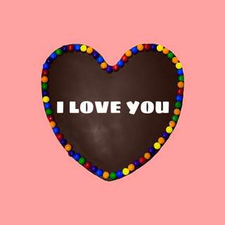 Message Heart Cake