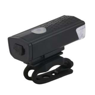 [PO432]USB Rechargeable Bike Head / Front White Light Lamp Black Bicycle