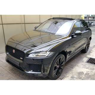 JAGUAR F-PACE S3.0 V6 AWD MERIDIAN HUD POWER BOOT PANORAMIC ROOF (A) OFFER UNREG 2016