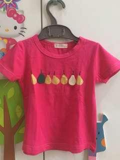 Baby pin pear shirt