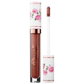 Pretty Vulgar 'My lips are sealed' metallic liquid lipstick in shade 'weeping willow'