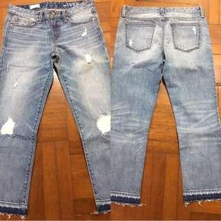 全新Gap女裝牛仔褲 Jeans 長褲 七分