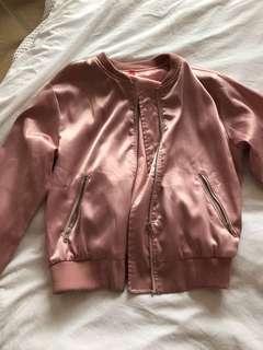 Satin look bomber jacket