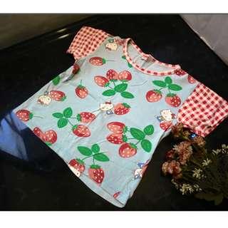 SANRIO 夏天女童 小孩 兒童 短袖ㄒ恤 尺寸110 約中班至小一  出清只售89元