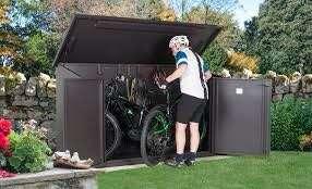 Bike cycle storage locker sheds