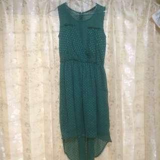 Zara trf green dress
