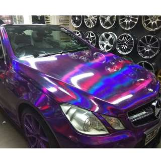Holographic Sticker wrap for cars