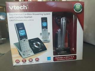 Reduced price from 5k to 4.5k Vtech cordless phones with answering machine, 2nd handset and cordless headset