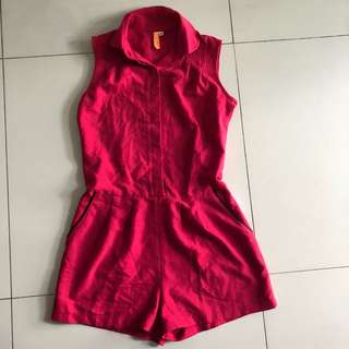 Coco kelen red jumpsuit sleeveless