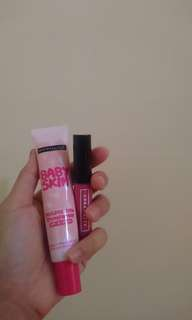 Maybelline Skin Pink and Emina Lipstick