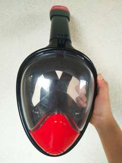 Thenice Version 2 Full-Face 180-Degree Snorkeling Mask L (Black)