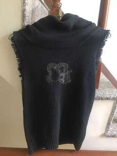 🚚 刺繡毛衣高領背心(可換物)