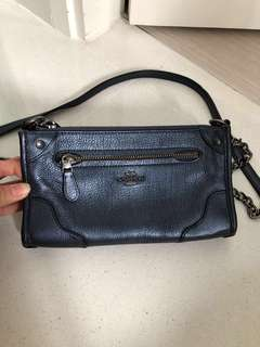 Authentic Coach Navy Blue Sling Bag
