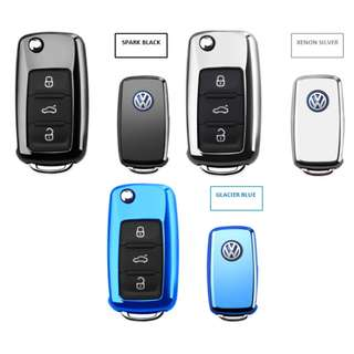 Volkswagen Premium Engraved Stainless TPU Protective Car Key Casing