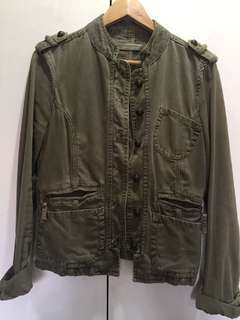Zara TRF Olive Green Rugged Jacket