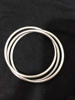 Sterling silver 925 interlocking triple bangles