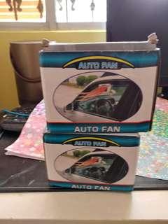 2 x Solar powered car air cooler