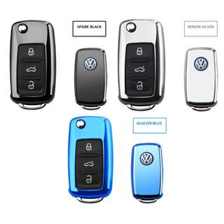 Volkswagen Premium Stainless Engraving TPU Car Key Protective Reflective Casing
