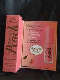 Too Faced Sweet Peach Lip Gloss