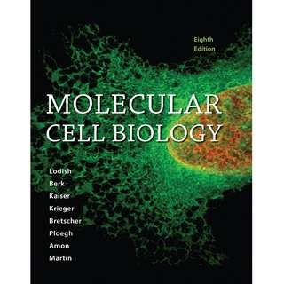 Molecular Cell Biology 8th Eighth Edition by Harvey Lodish, Arnold Berk, Chris A. Kaiser, Monty Krieger, Anthony Bretscher, Hidde Ploegh, Angelika Amon, Kelsey C. Martin - W. H. Freeman