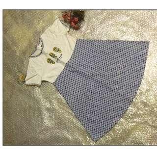 夏天 女童 小孩 兒童 短袖 裙子 小一至小三 只售99元  隨便賣