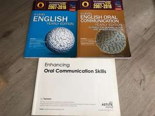 Bundled clearance O Level English Books