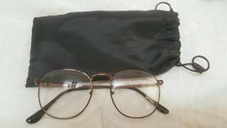 圓框眼鏡(咖啡色)