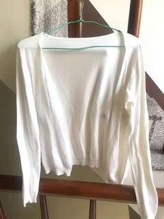 🚚 白色小罩衫 小外套(可換物)