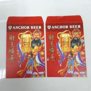 Angpao Red Packet Chinese New Year Anchor Beer