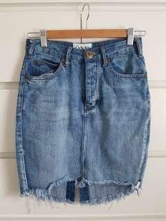 One Teaspoon High Waist Blue Denim skirt