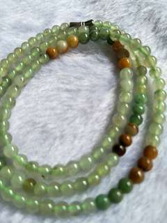 Jadeite Necklace 冰三彩玉珠