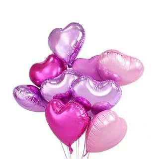 [3 FOR $5] Helium heart star balloon