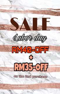 SALE LABOR DAY