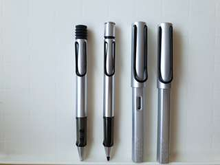 Silver Lamy Pens and Pencil