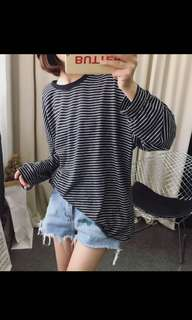 [PO] Striped Long Sleeved Shirt