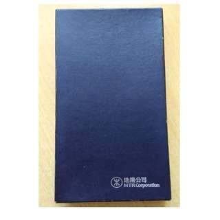 A1 地鐵公司 卡片套-卡片簿-卡套 (皮) 黑色 - 絕版 MTR 紀念品