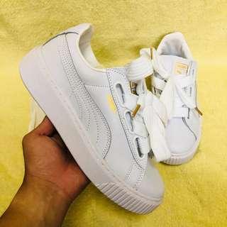puma bow slip on platform/ shoes