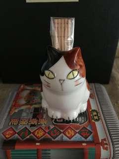 日本製可愛貓貓牙籤座