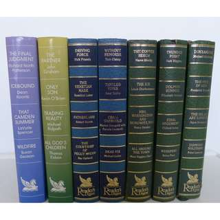 Reader's Digest  Hard Cover Novels - 7 Volumes - Each has 4 condensed stories