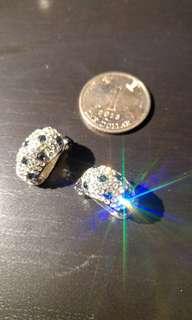 銀白晶石耳環