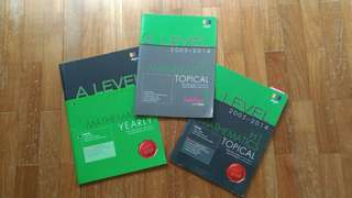 Set Of 3 Books -- A LEVEL H1 MATHS Yearly And Topical (Shing Lee) & Examination Question Classified Topic By Topic