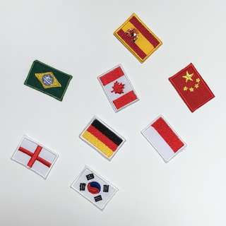Country Flag Iron On Patches