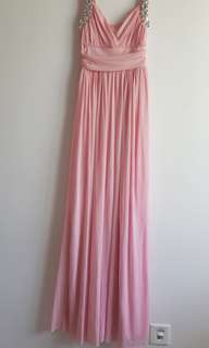 Pink gown dress Long