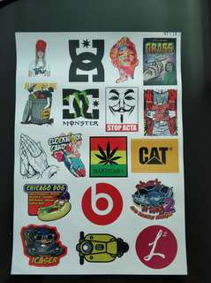 Best selling stickerbomb monster cat DC smoke grass stickers