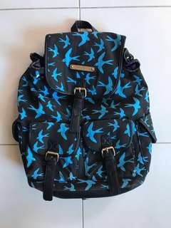Anna Smith Black/Blue rucksack bag