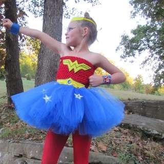 Wonder Woman Tutu Dress Dress up for Girls